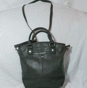 Jewell by Thirty One Gray Reptile Pattern Crossbod